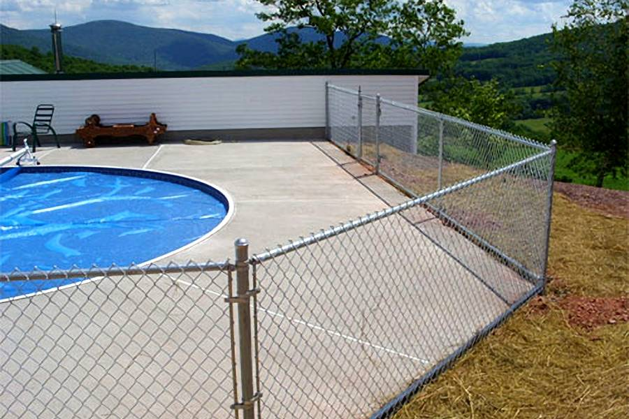 Chain Link Pool Fencing Applied in Commercial & Personal ...