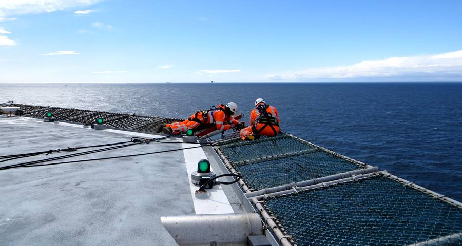 Chain Link Helideck Safety Net For Offshore And Rooftop