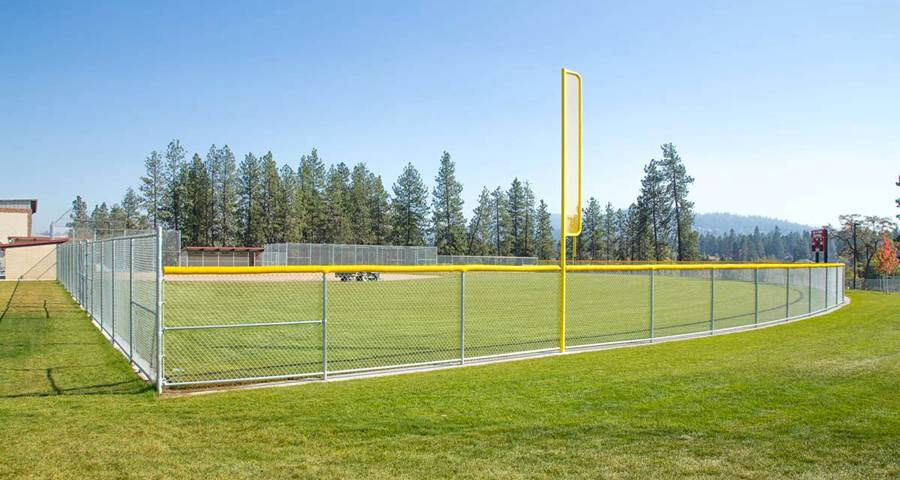 Chain Link Fence Is The Standard Fencing For Baseball Softball Field