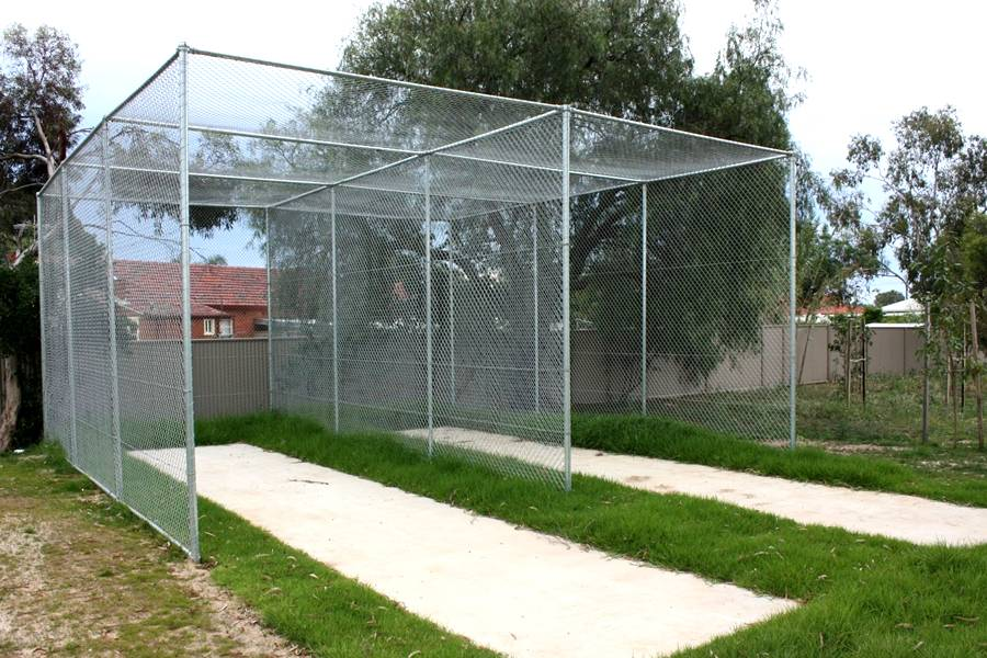 Chain Link Cricket Net Fence Created For Ball Stop In The