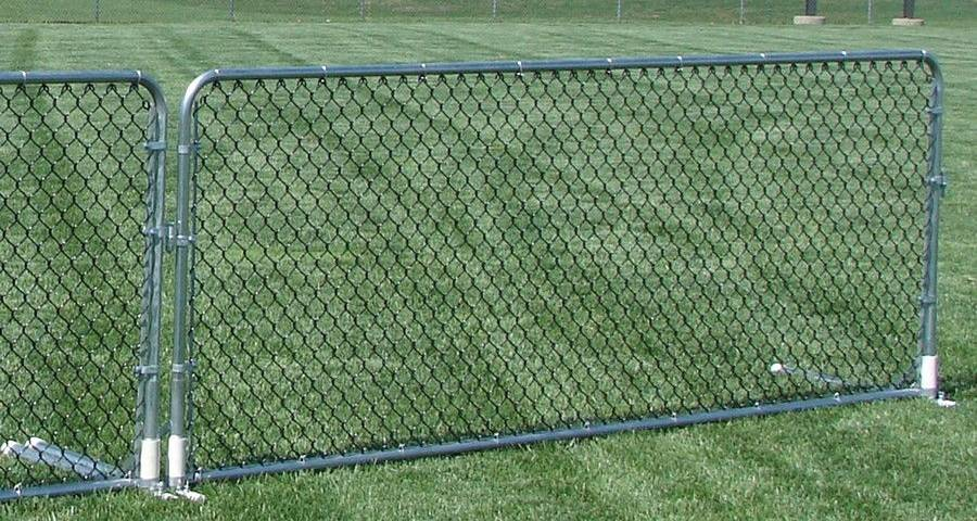 Temporary Chain Link Fence Panel Is Often Used In