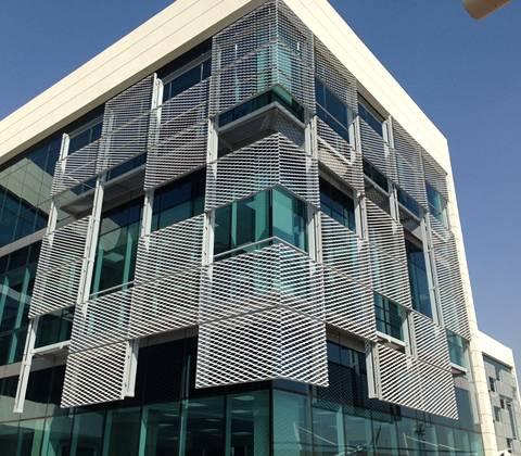 Aluminium Expanded Metal Facade Elegant Building Cladding
