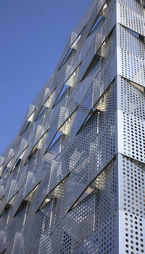 Perforated Metal For Building Facade Artistic Building