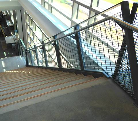 Steel Grating Stair Railing Sets Up Indoor Or Outdoor For