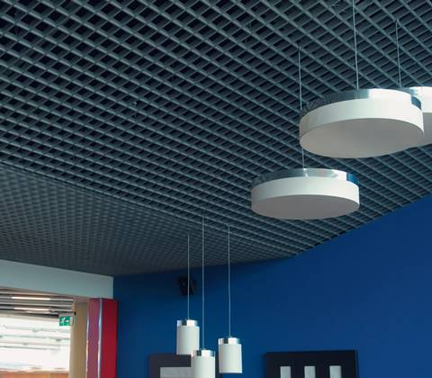 Steel Grating Is Used As Indoor Suspended Ceiling For