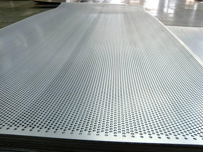 Round Aluminium Panel : Gallery center of perforated metal