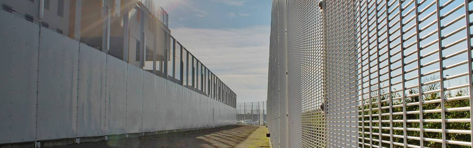 Anti climb fence panel installed for the maximum protection of the plant.