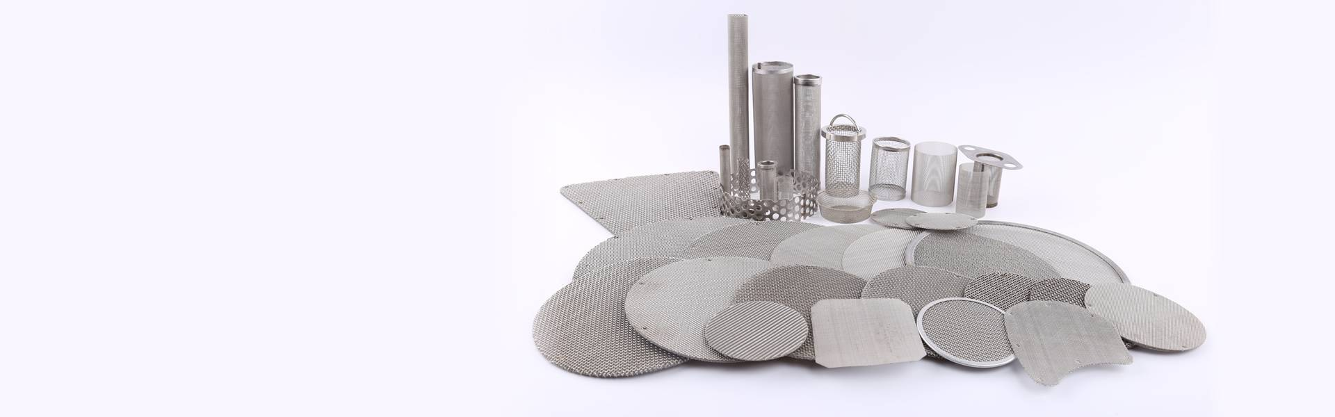 There's a series of wire mesh filters with different shapes such as round disc, basket filter, cylindrical filter, etc.