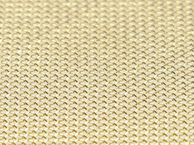 Brass Wire Mesh : Brass wire mesh good corrosion resistance moderate