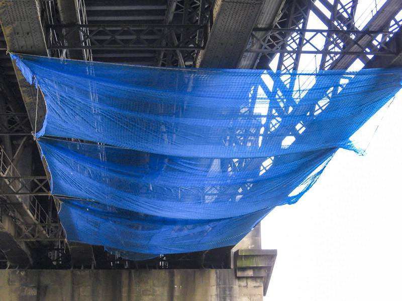 Scaffold Debris Netting Used To Fall Protection Of People