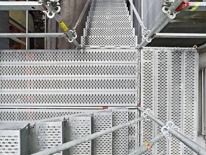 Steel Scaffold Planks : Steel scaffold plank used in scaffolding for