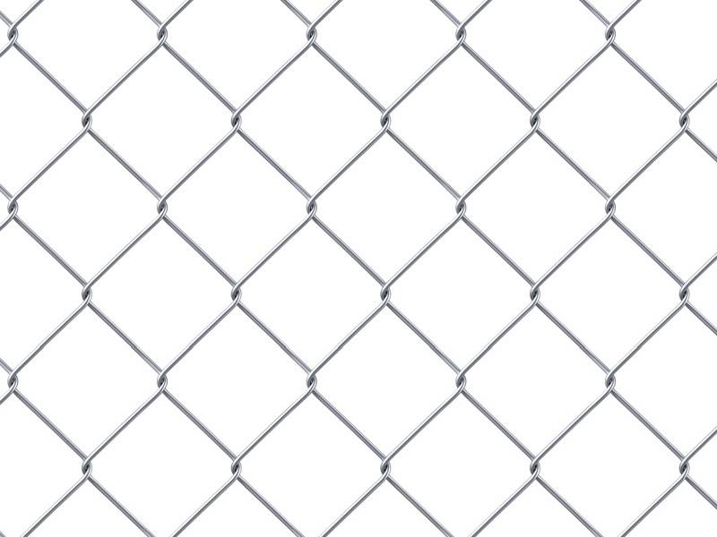 This is a galvanized chain link mesh with square mesh opening.
