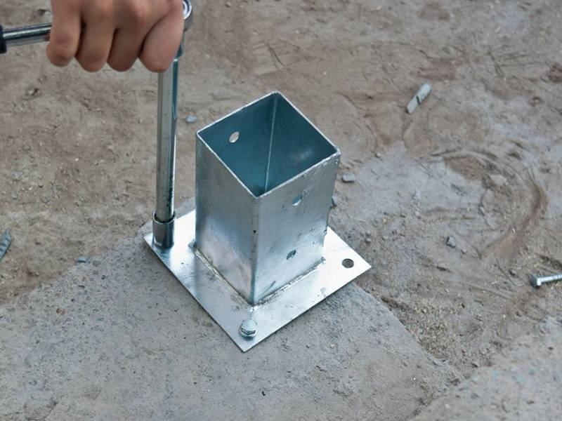 Post Base Making Posts Grasp Concrete Surface Firmly