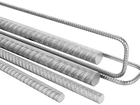 Rebar Steel Bar Used To Strength The Concrete And