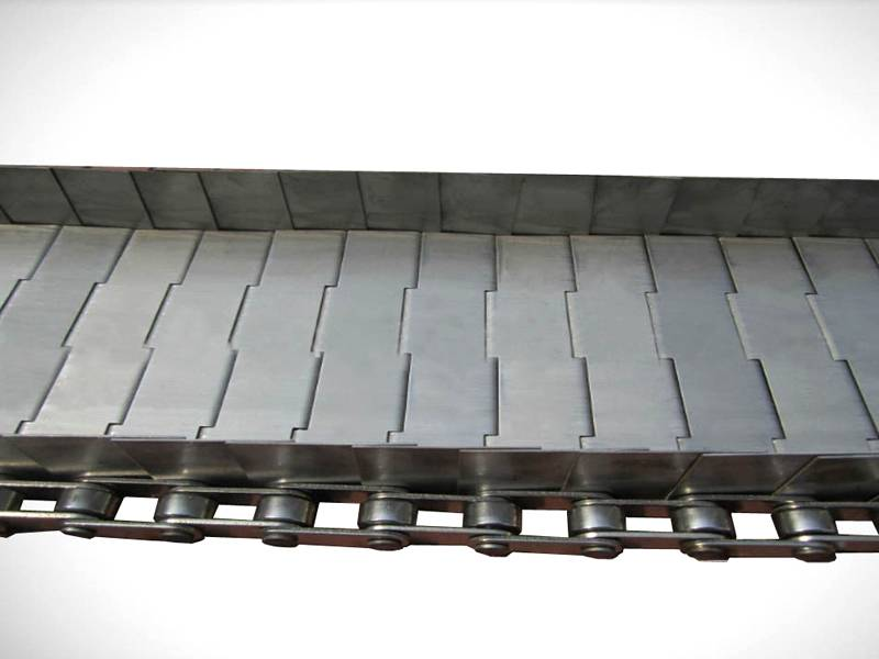 A piece of stainless steel plate conveyor belt.