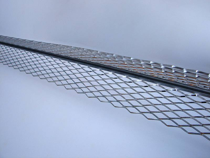 Stainless steel corner beads are shown.