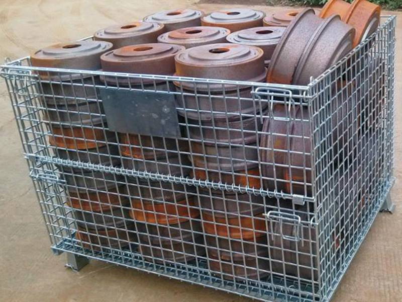 Wire Container For Storage And Transportation In