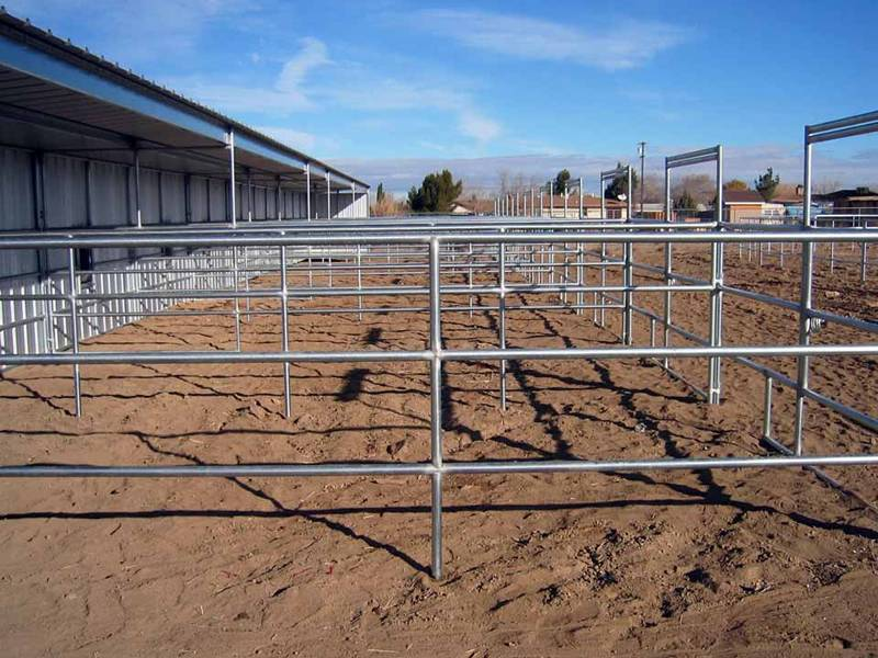 Travel corrals used for factory fencing.