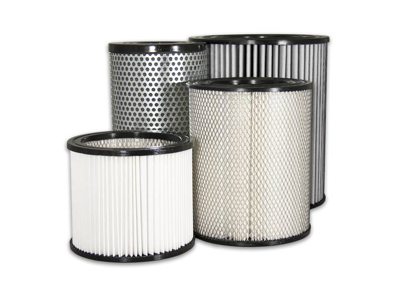 A summary picture of filter element with a variety of shapes for air filter. It can be made of stainless steel or filter paper.