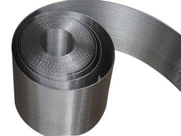 A close-up picture of belt filter element for filter.