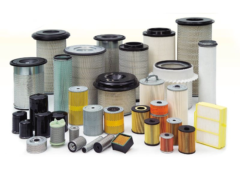 A summary picture of filter element with a variety of shapes.