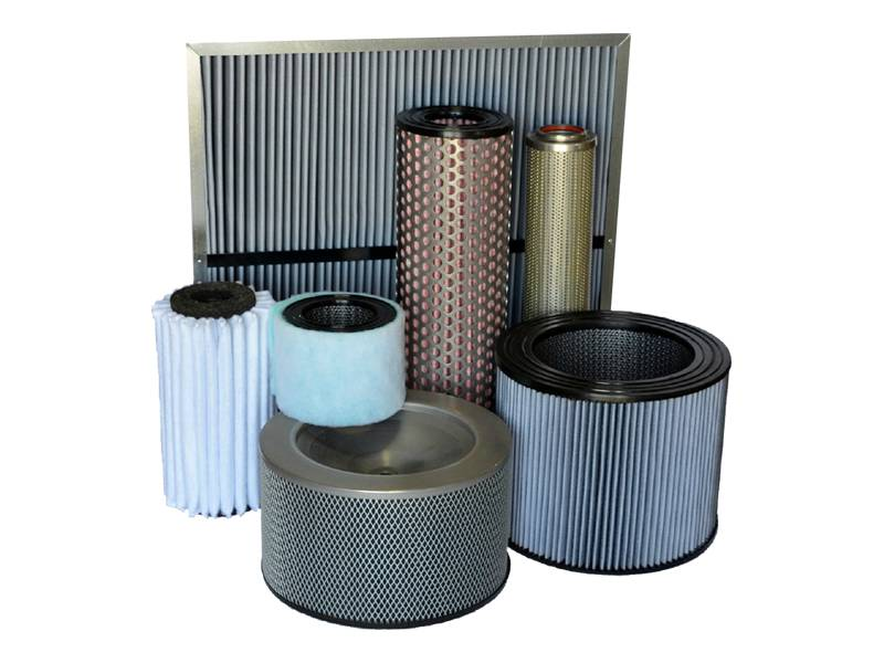A summary picture of fuel gas filter elements made of different process and with a variety of shapes.