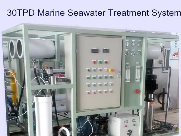 Winder FRP precision filter for marine seawater treatment system.