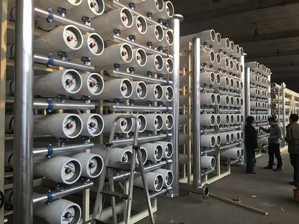 Cheng Da Winder FRP membrane housing is used in the Qingdao wastewater reclamation project..