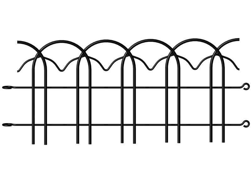 This is a piece of black decorative garden border fence.