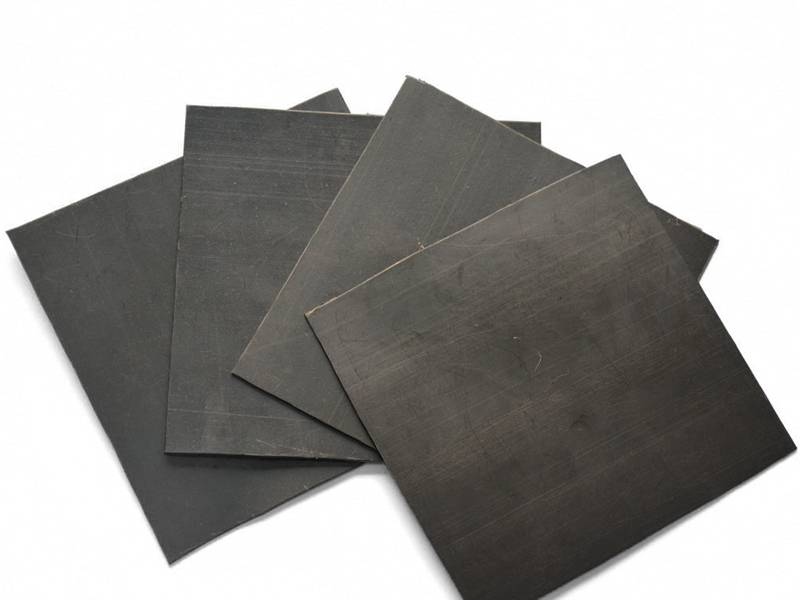 There are four piece of black HDPE geomembrane.