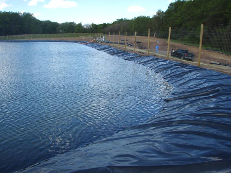 This is a huge pond with geomembrane.