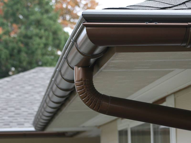 Gutter For Eaves In House Villa Apartment To Drain Rainwater
