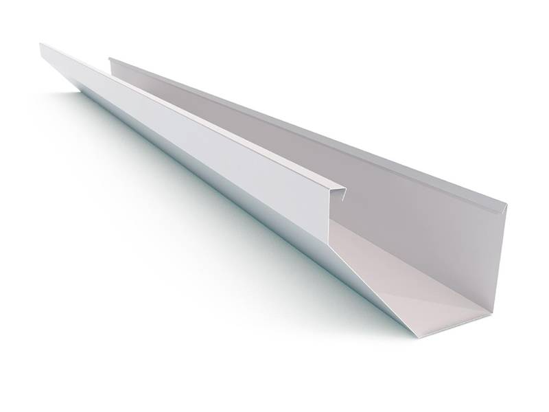 This is a white K style gutter.