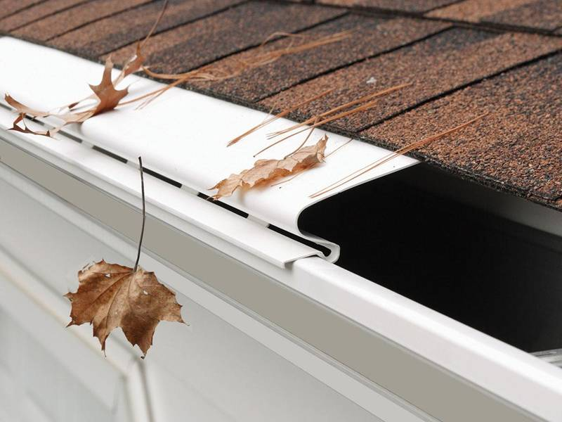 Gutter Guard Cover For Gutters In Roof Of House Villa