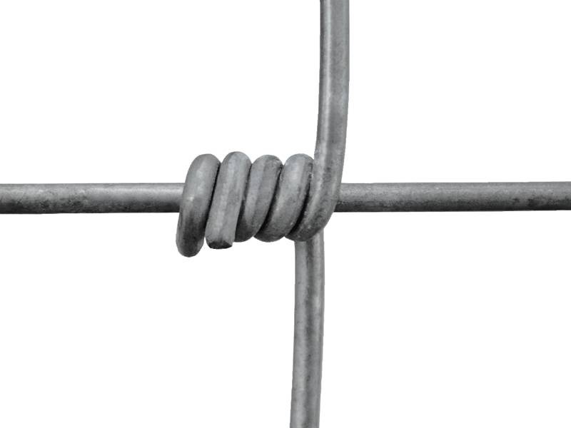 Field fence with hinge joint type knot.