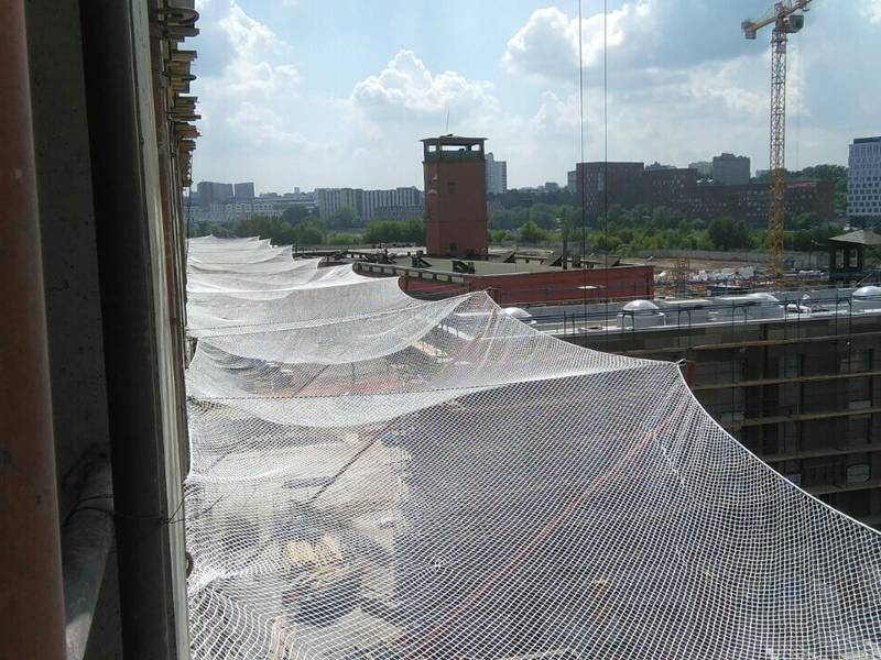 Horizontal Debris Netting For Building And Bridge Construction