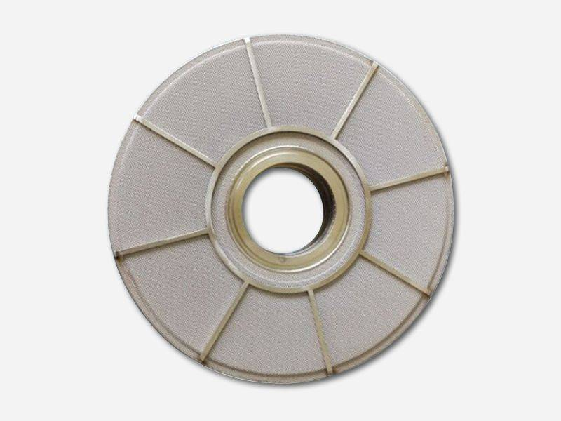 This is one leaf disc filter for polymer filtration.