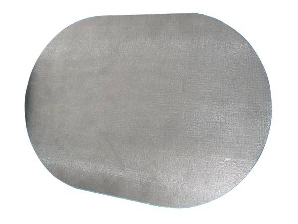 A oval shape sintered wire mesh.