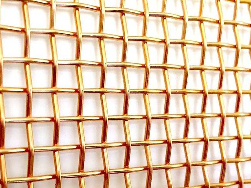 One piece of phosphor bronze wire mesh with plain weave type.