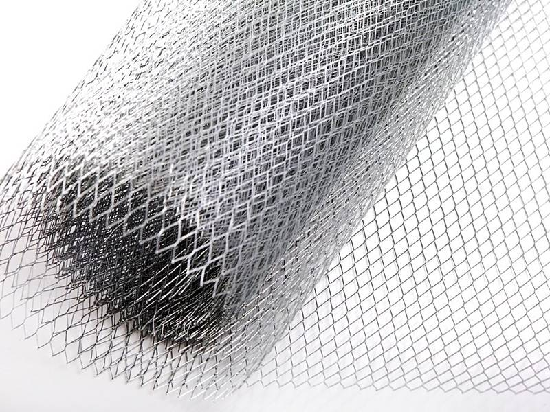 A roll of expanded metal plaster mesh.