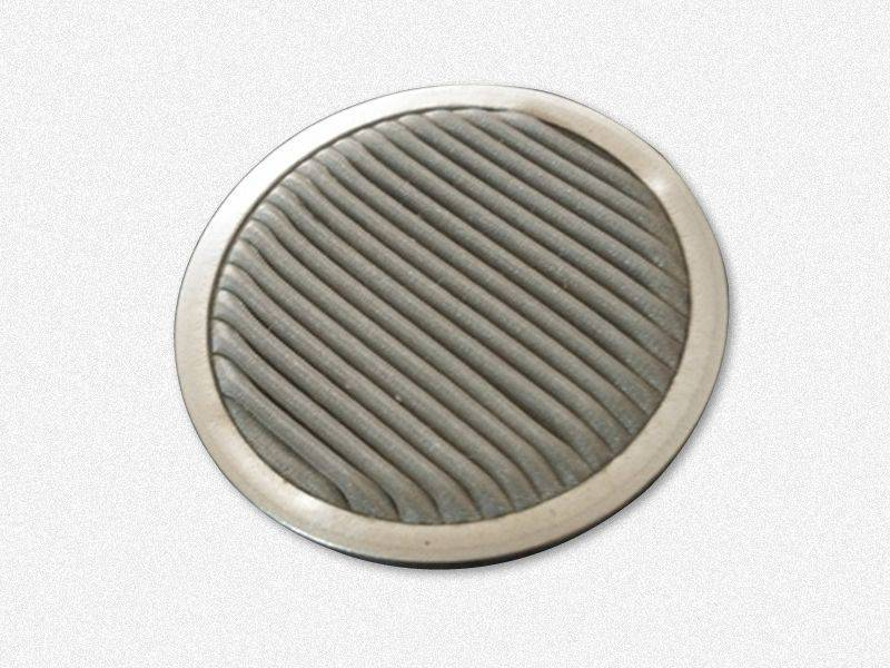 This is one pleated filter disc with a metal edge.