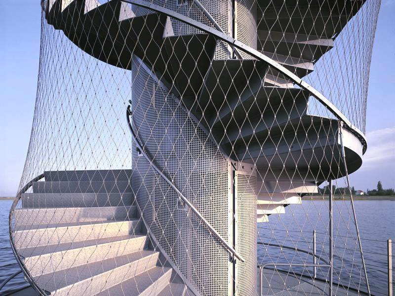 Construction Concerns Fall Protection And Steel Buildings: Stainless Steel Rope Mesh