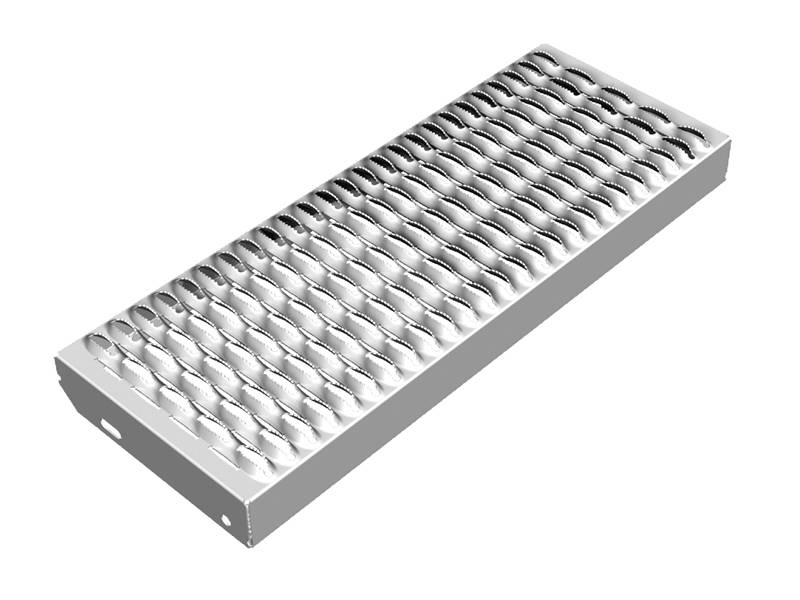 A piece of diamond-strut safety grating with 5-diamond on the white background.