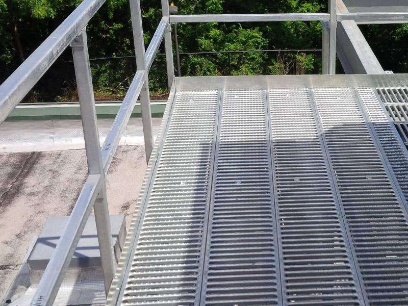 Interlocking Safety Grating As Platform Walkway In Plant