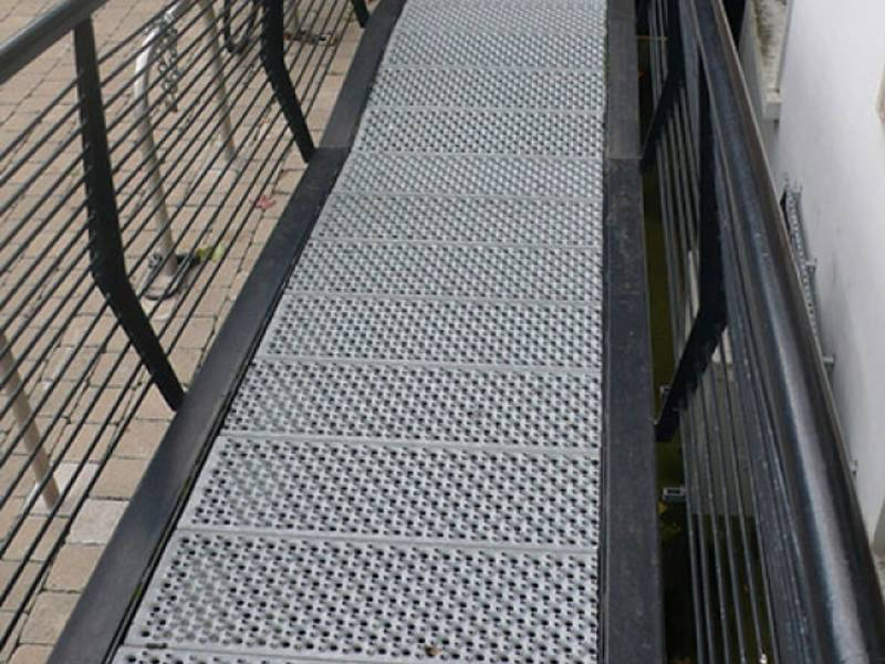 Safety Grating As Platform Or Walkway To Protects The