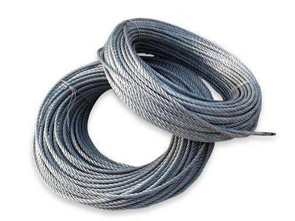 Two coils of galvanised sewing rope.