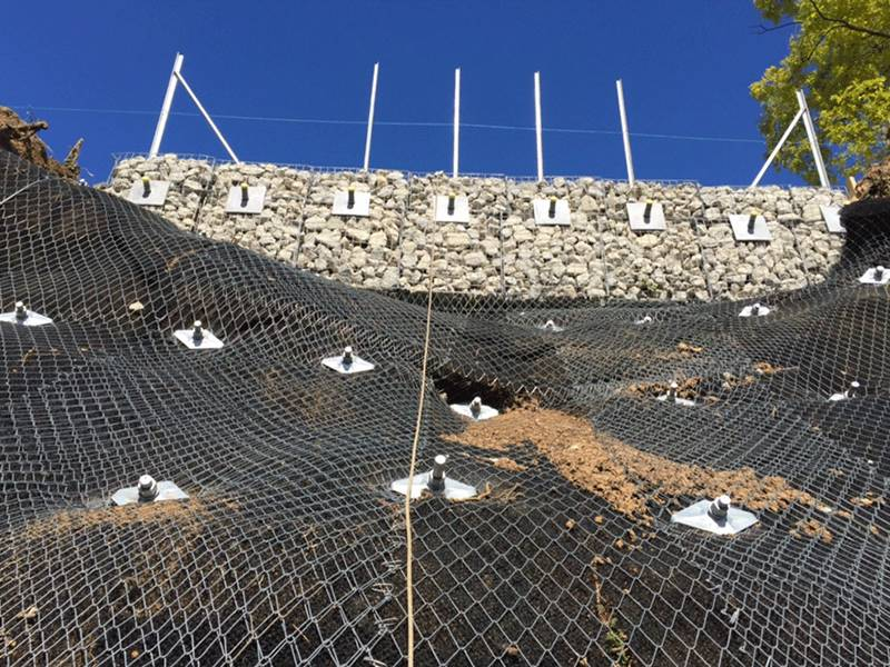 Tecco Mesh Rockfall Barrier For Mountain Or Slope Protection