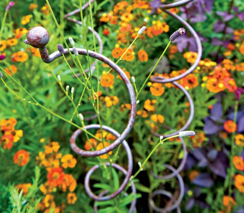 Spiral Plant Support For Flowers Vegetables In Garden And