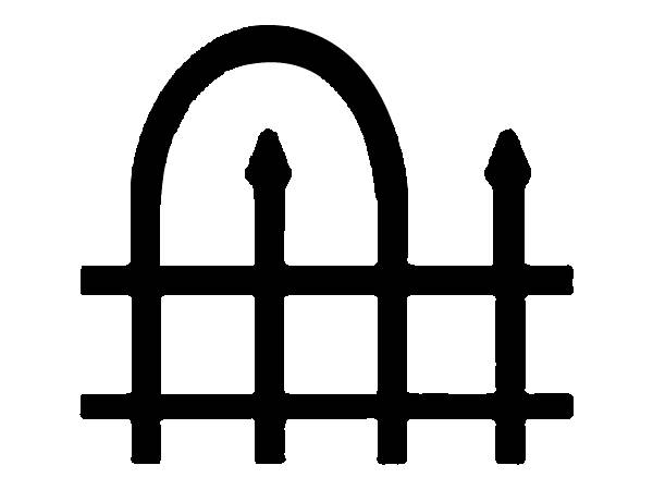 wrought iron fence used in residential area  park