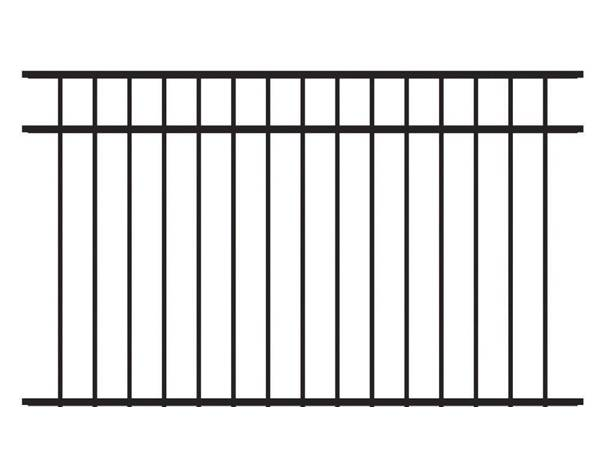 A sample picture of wrought iron fence without finial.